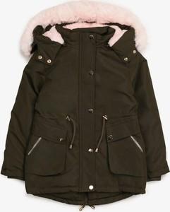Zielona kurtka dziecięca born2be dla dziewczynek