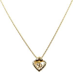 Dior Heart Logo CD Necklace and Earrings Set