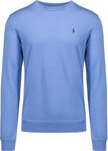 Niebieska koszulka polo POLO RALPH LAUREN w stylu casual z wełny