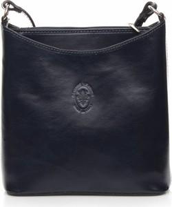 Czarna torebka GENUINE LEATHER na ramię ze skóry