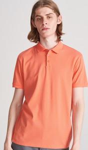 Pomarańczowa koszulka polo Reserved z krótkim rękawem w stylu casual