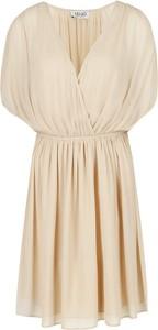Sukienka Liu-Jo z dekoltem w kształcie litery v z krótkim rękawem