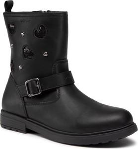 Czarne buty dziecięce zimowe eobuwie.pl na zamek