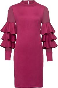 Fioletowa sukienka bonprix BODYFLIRT boutique