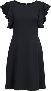 Sukienka DKNY z okrągłym dekoltem trapezowa