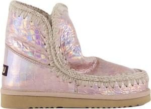 Złote buty dziecięce zimowe MOU