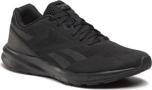 Czarne buty sportowe Reebok sznurowane w sportowym stylu