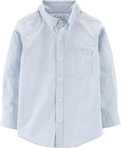 Niebieska koszula dziecięca OshKosh w paseczki z bawełny