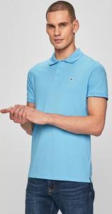 Niebieski t-shirt Calvin Klein z dzianiny