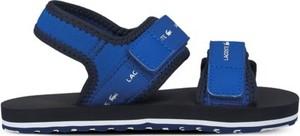 Buty dziecięce letnie Lacoste na rzepy dla chłopców z tkaniny