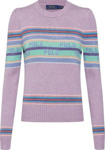 Fioletowy sweter POLO RALPH LAUREN w stylu casual z jedwabiu