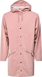 Różowa kurtka Rains długa