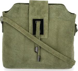 Zielona torebka VITTORIA GOTTI z zamszu