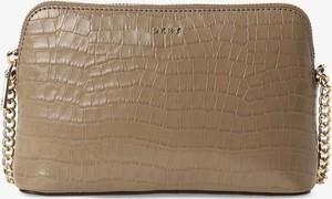 Brązowa torebka DKNY na ramię średnia