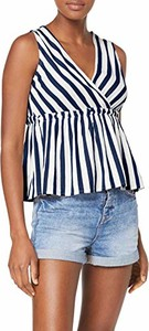 Bluzka amazon.de bez rękawów w stylu boho z dekoltem w kształcie litery v