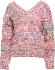 Różowy sweter Be w stylu casual