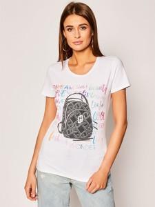 T-shirt Liu-Jo z krótkim rękawem z okrągłym dekoltem w młodzieżowym stylu