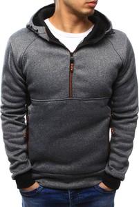Dstreet bluza męska z kapturem szara (bx3436)