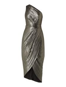 Złota sukienka Ted Baker bez rękawów asymetryczna