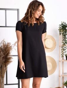Sukienka Grandio z krótkim rękawem z tkaniny trapezowa