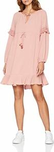 Różowa sukienka Sisley z długim rękawem