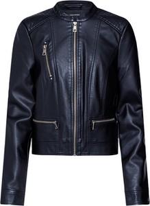 Czarna kurtka Vero Moda krótka w rockowym stylu