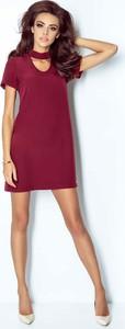 Bordowa sukienka Ivon mini