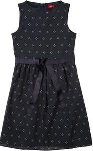 Granatowa sukienka dziewczęca S.Oliver z dżerseju