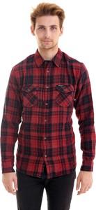 Czerwona koszula Wrangler z klasycznym kołnierzykiem w stylu casual