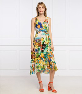 Sukienka Desigual midi na ramiączkach