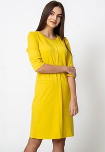 Żółta sukienka QUIOSQUE mini w stylu casual