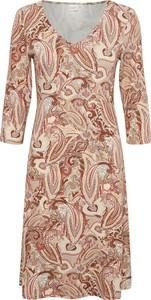 Różowa sukienka Cream z długim rękawem mini w stylu casual
