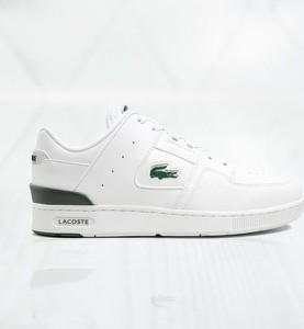 Buty sportowe Lacoste w sportowym stylu sznurowane ze skóry