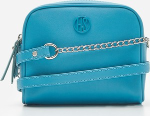 Niebieska torebka House w stylu glamour