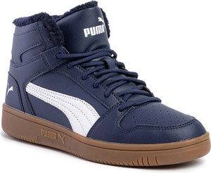 Niebieskie buty zimowe Puma sznurowane