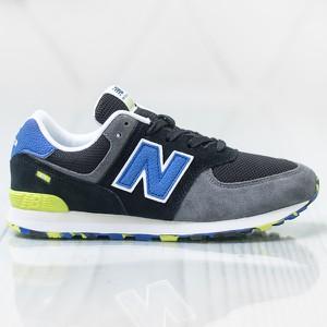 Granatowe buty sportowe New Balance w sportowym stylu 574 sznurowane