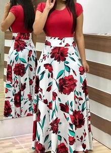 Sukienka Arilook z bawełny z okrągłym dekoltem maxi