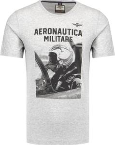 T-shirt Aeronautica Militare z krótkim rękawem z bawełny w młodzieżowym stylu