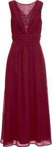 Czerwona sukienka bonprix BODYFLIRT bez rękawów maxi