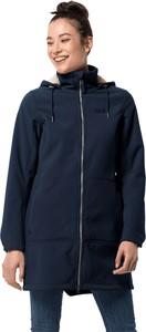 Niebieski płaszcz Autoryzowany Sklep Jack Wolfskin z plaru w stylu casual