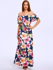 Sukienka Kendallme maxi hiszpanka z krótkim rękawem