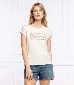 Bluzka Pepe Jeans z okrągłym dekoltem