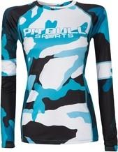 Pit Bull West Coast Rashguard termoaktywny damski Pit Bull Camo 2 - Niebieski (920330.1005)