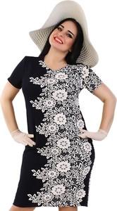 4379fa415d sukienka czarno biała wyszczuplająca - stylowo i modnie z Allani