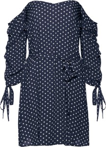 Granatowa sukienka bonprix BODYFLIRT boutique mini
