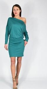 Niebieska sukienka Collibri mini z długim rękawem
