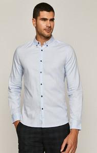 Niebieska koszula Medicine z długim rękawem z kołnierzykiem button down z bawełny