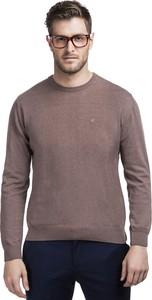 Brązowy sweter Giacomo Conti z tkaniny