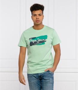 T-shirt Pepe Jeans z bawełny z krótkim rękawem w młodzieżowym stylu