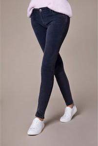 Granatowe spodnie Blue Fire ze sztruksu